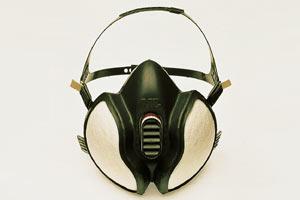 Atemschutzmaske zum Bügeln v. Skibelägen