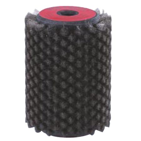 Rotor-Bürste Stahl ultra fein 10 cm, Stahl Fieber 0,055 mm