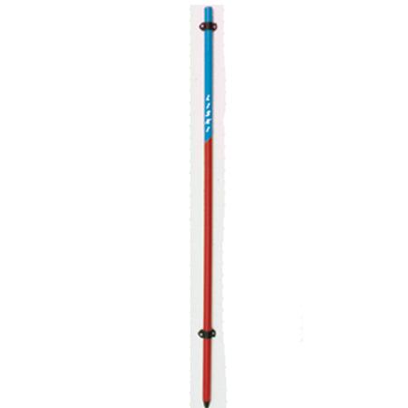 PVC Stange Absperrnetz, 165cm / 30mm, Hakenkappe + Netzclip