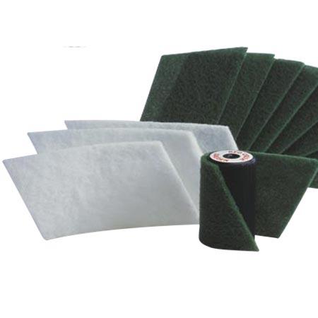 Fibertex grün - hart, für Velcro-Roller 10 cm, 3 Stück