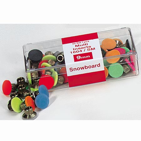 Snowboard Multi-Insert 9mm transparent, 10 Stück