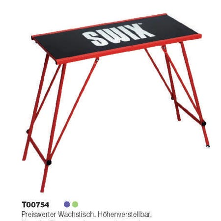 SWIX Wachstisch klein T00754, 96cm x 45cm