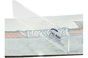 Wachsabziehklinge Plexiglas für Boards, 220 x 70 x 5mm